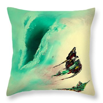 The Gush Throw Pillow by David Hatton