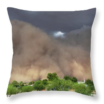 The Haboob Is Coming Throw Pillow
