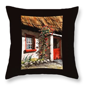 The Half Door Throw Pillow