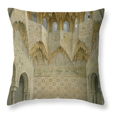 The Hall Of The Abencerrages Throw Pillow