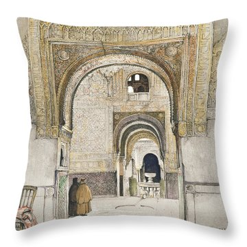 The Hall Of The Two Sisters Throw Pillow