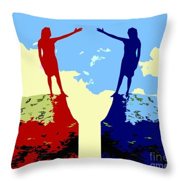 The Hand Of Friendship Throw Pillow by Patrick J Murphy