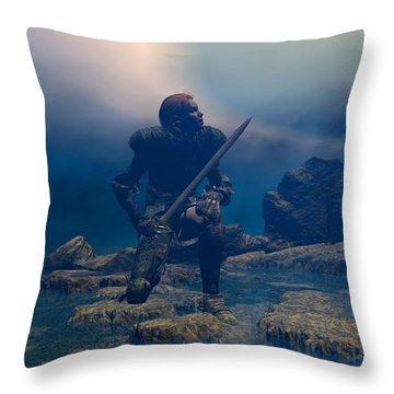 The Hand Of God On Your Head Throw Pillow
