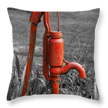 The Hand Pump Throw Pillow