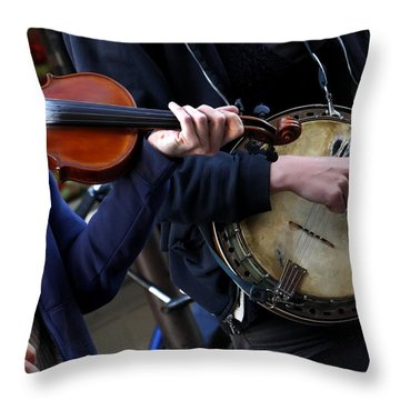 The Hands Of Jazz Throw Pillow