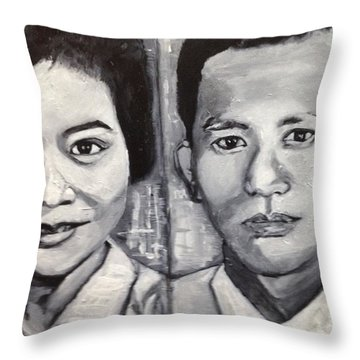 The Handsome Couple Throw Pillow