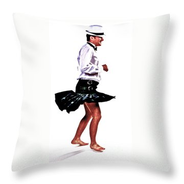 The Happy Dance Throw Pillow by Xn Tyler