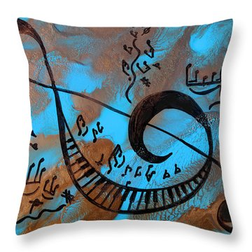 The Happy Sol Key Throw Pillow