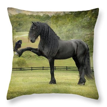 Raven Throw Pillows