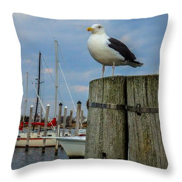 The Harbormaster Throw Pillow