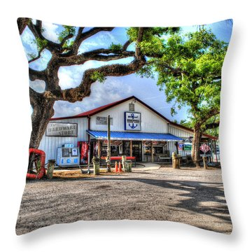 Throw Pillow featuring the digital art The Hardware Store by Michael Thomas