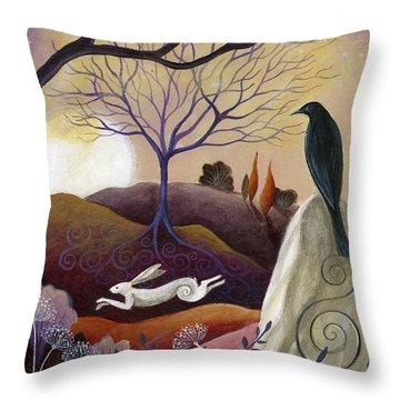 Brown Hare Throw Pillows