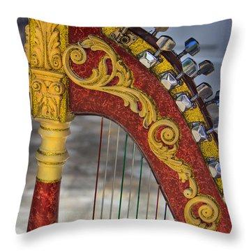 The Harp Throw Pillow by Al Bourassa