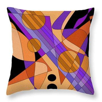 Electric Harp Throw Pillow