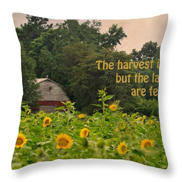 The Harvest Is Plentiful Throw Pillow