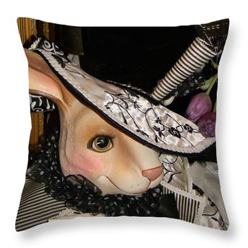 The Hat Throw Pillow by Jean Goodwin Brooks