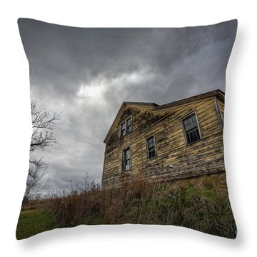 The Haunted Color Throw Pillow by Michael Ver Sprill
