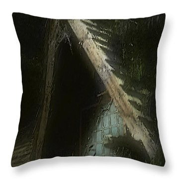 The Haunted Gable Throw Pillow by RC DeWinter
