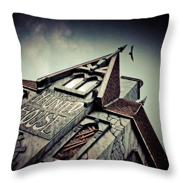 The Haunted House  Throw Pillow by Eti Reid