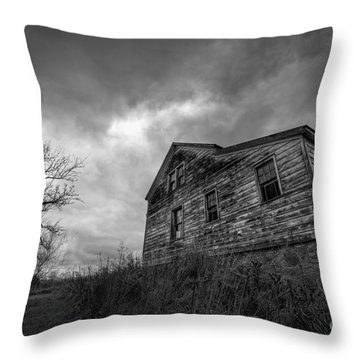 The Haunted Throw Pillow by Michael Ver Sprill