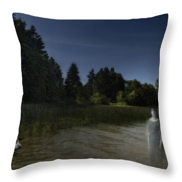 Throw Pillow featuring the photograph The Haunting by Belinda Greb