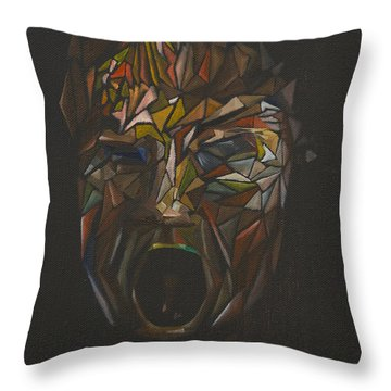 The Head Of Goliath - After Caravaggio Throw Pillow