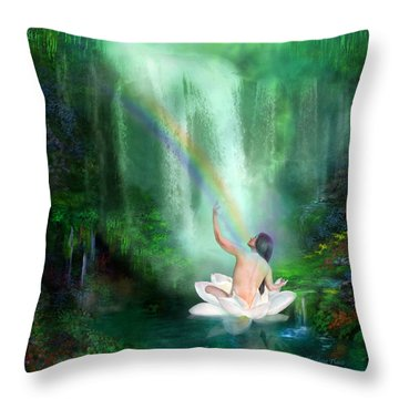 The Healing Place Throw Pillow by Carol Cavalaris