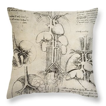 Nerves Drawings Throw Pillows