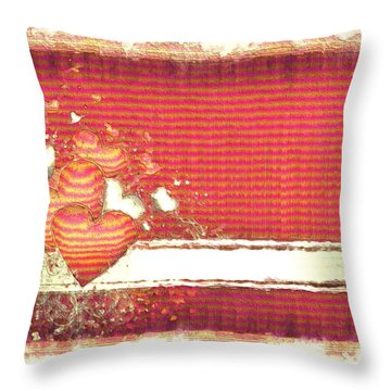 Throw Pillow featuring the digital art The Heart Knows by Liane Wright