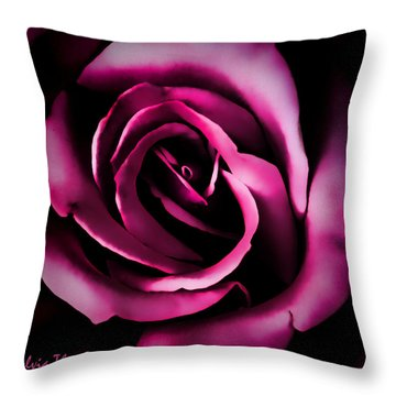 The Heart Of A Rose Throw Pillow