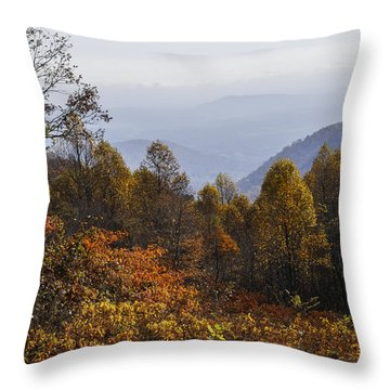 The Heart Of Autumn Throw Pillow by Lynn Bauer