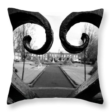 The Heart Of Dublin Throw Pillow