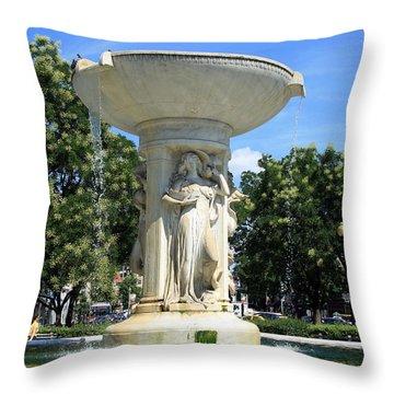 The Heart Of Dupont Circle Throw Pillow