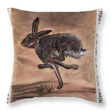 The Heart Of The Hare Throw Pillow by Bryana  Johnson