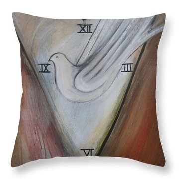 The Heart Of Time Throw Pillow