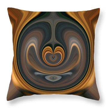 Throw Pillow featuring the digital art the Heart of Time by rd Erickson