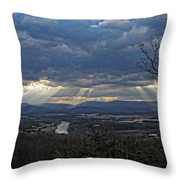 The Heavenly Valley Throw Pillow by Lara Ellis