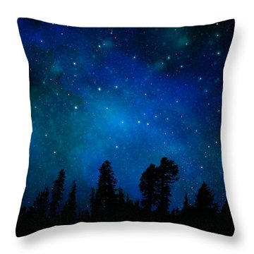 The Heavens Are Declaring Gods Glory Mural Throw Pillow