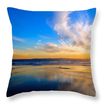The Heaven's Declare His Glory Throw Pillow by Margie Amberge