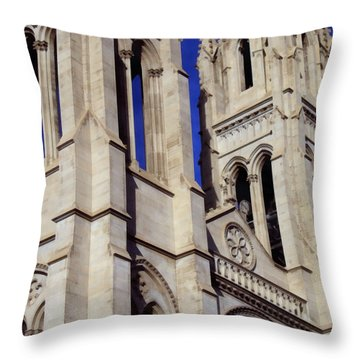 The Heights Of The Cathedral Basilica Of The Immaculate Conception Throw Pillow by Angelina Vick