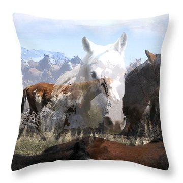 The Herd 2 Throw Pillow by Kae Cheatham