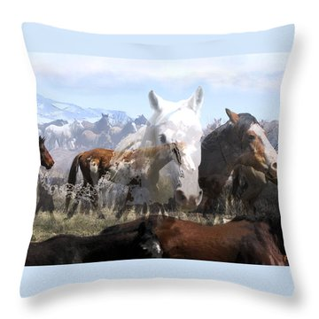 The Herd 2 Throw Pillow