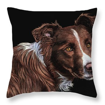 The Herder Throw Pillow