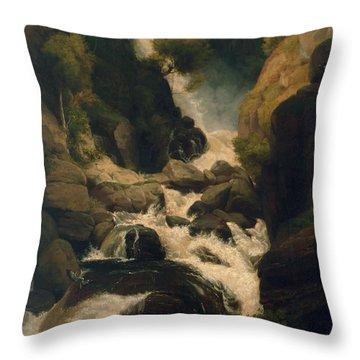 The Heron Shoot, C.1800 Throw Pillow by English School