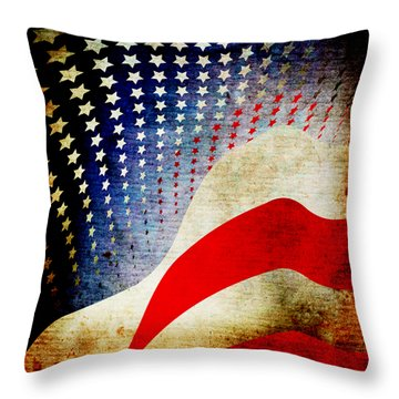 The High Flying Flag Throw Pillow by Angelina Vick