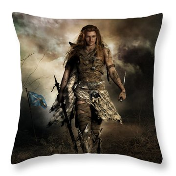 The Highlander Throw Pillow