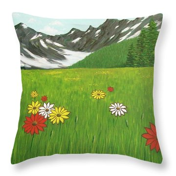 The Hills Are Alive With The Sound Of Music Throw Pillow
