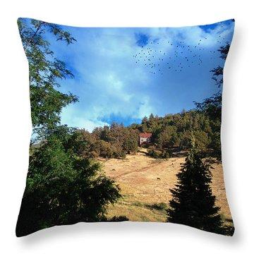 The Hillsides Of Julian Throw Pillow