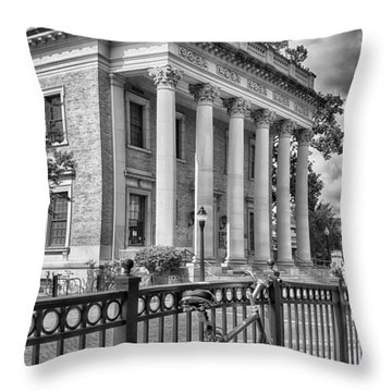 The Hippodrome Theatre Throw Pillow by Howard Salmon