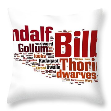 The Hobbit Throw Pillow by Florian Rodarte